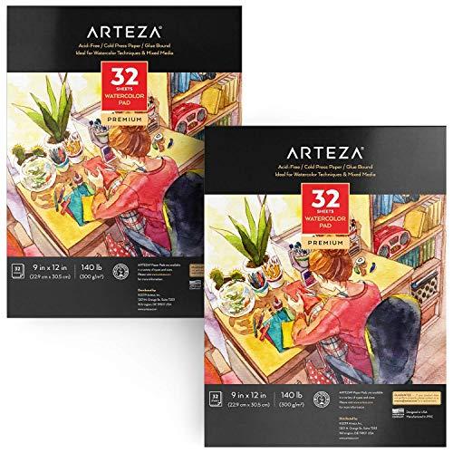ARTEZA Watercolor Paper 9x12