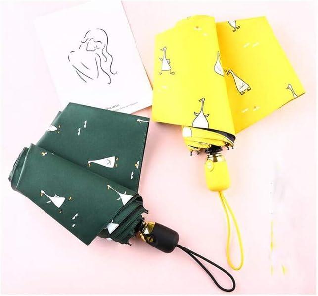 HongTeng Sun Umbrella Female Ultra Light Compact Portable Sun Protection Rain Dual-use Sunshade Folding Automatic Umbrella Automatic Opening and Closing Multi-Color Optional Color : Gray