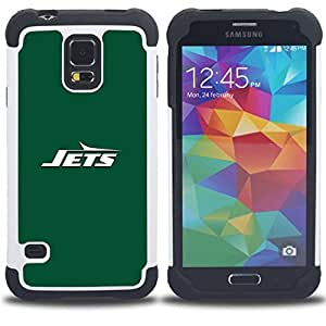 """SAMSUNG Galaxy S5 V / i9600 / SM-G900 - 3 en 1 impreso colorido de Altas Prestaciones PC Funda chaqueta Negro cubierta gel silicona suave (CHORROS"""")"""