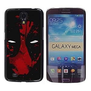 Caucho caso de Shell duro de la cubierta de accesorios de protección BY RAYDREAMMM - Samsung Galaxy Mega 6.3 - Oscuro de la araña del superhéroe