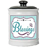Tumbleweed Blessings - Christian Gifts - Count Your Blessings Ceramic Jar With Lid