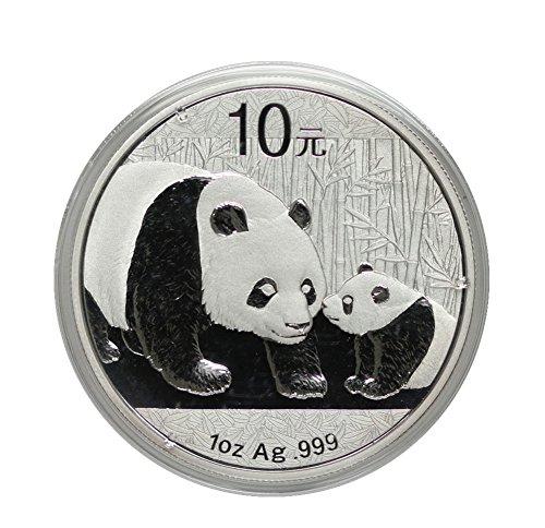 2011 CN China 1oz Silver Panda 10 Yn Brilliant Uncirculated