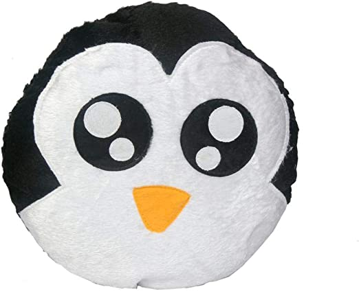 Briltech Boy Penguin Emoji Face Plush/Pillow - 12 inches