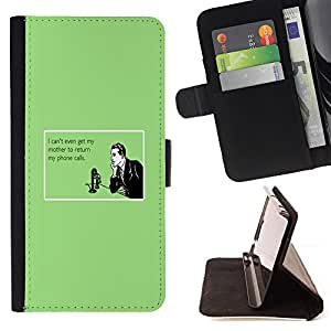 DEVIL CASE - FOR Samsung Galaxy Core Prime - Mother Technology Relationships Quote - Style PU Leather Case Wallet Flip Stand Flap Closure Cover