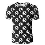 Flame Over The Calf Soccer Men Humor Short Sleeve Sleep T-Shirt Tees