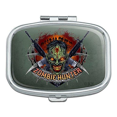 Zombie Hunter Undead Rifles Rectangle Pill Case Trinket Gift Box (Pill 47 Ak)