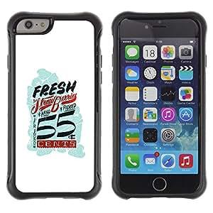Be-Star único patrón Impacto Shock - Absorción y Anti-Arañazos Funda Carcasa Case Bumper Para Apple iPhone 6 Plus(5.5 inches)( Fresh Vintage Retro White Blue Cents )