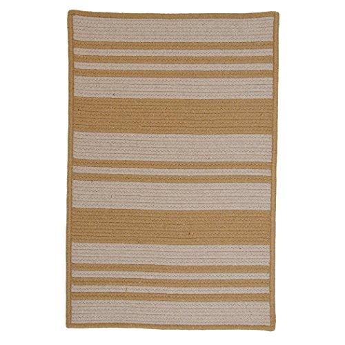 Colonial Mills Sunbrella Stripe Area Rug (8' x 10') wheat &papyrus (Rug Sunbrella Stripe)