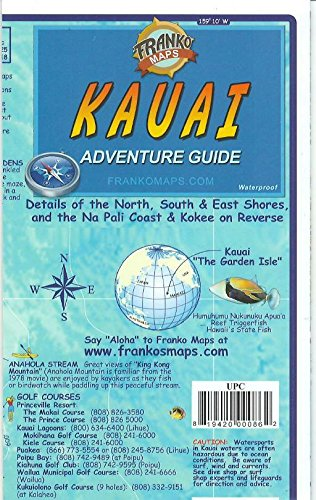 (Kauai Hawaii Adventure Guide Franko Maps Waterproof Map)