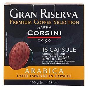 Caffè Corsini Capsule Compatibili a Modo Mio Arabica - Confezione da 16 Cialde