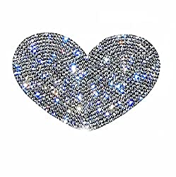 Car Bumper Rhinestone Heart Symbol Sticker