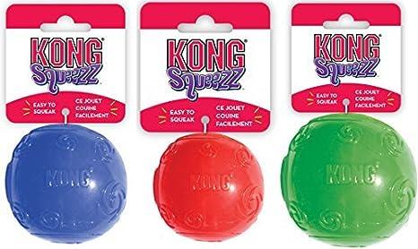Kong - Pelota extragrande Squeezz ball para perros (paquete de 2 ...