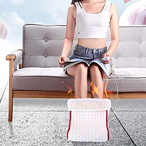 Feet Heating Pad for Home Office Dormitory Woolala Foot Warmer//Boots//Slippers for Women Men Thermal Heated Shoes with Controller//Auto Off