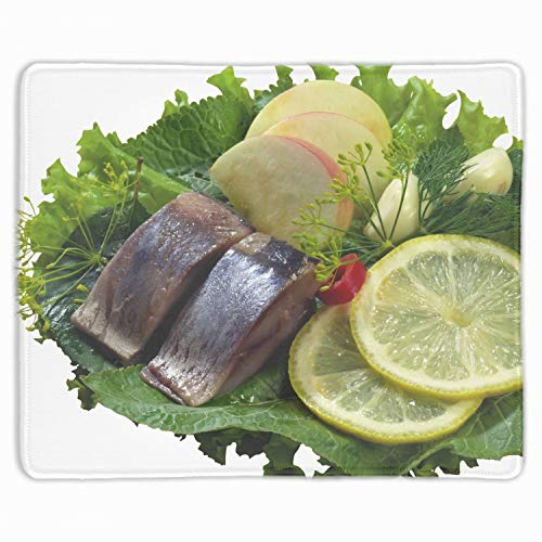 Gaming Mousepad Fish Meats Herbs Potatoes Laptop Mouse pad Non Slip Rubber Locked Desk Mat 9.8 x 11.8 inch