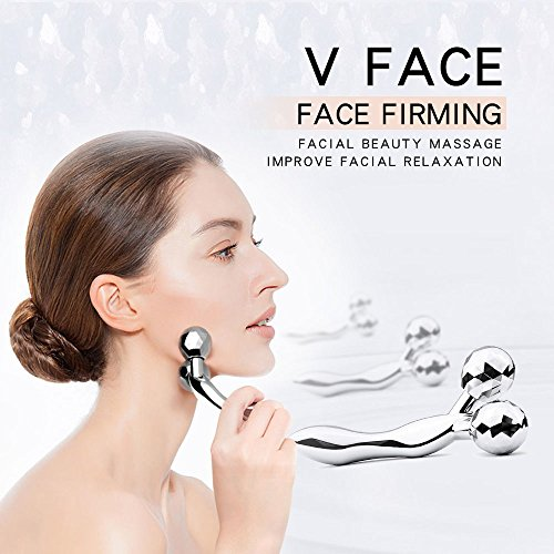 (YEISEE Facial massager 3D Y roller Face massage Body Spa face roller Metal Material )