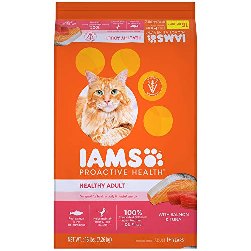 Iams Proactive Health Healthy Adult Dry Cat Food With Salmon And Tuna, 16 Lb. Bag