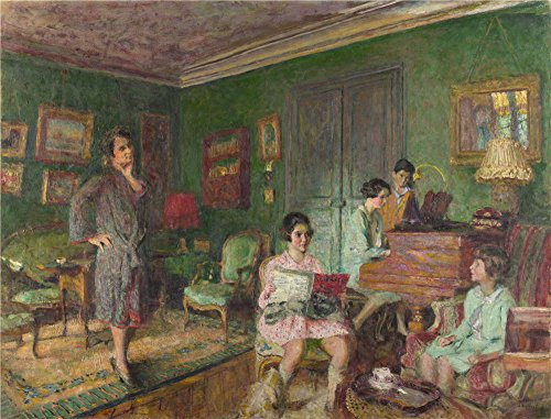 Oil Painting 'Edouard Vuillard - Madame Andre Wormser And Her Children,1926-7', 18 x 24 inch / 46 x 60 cm , on High Definition HD canvas prints is for Gifts And Foyer, Game Room And Garage Decoration