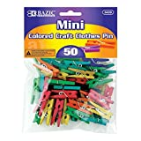 50 Ct. Mini Colored Clothespins Set Quantity: Case of 288