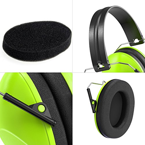 Dr.meter Kids Protective Earmuffs Sound Amplification Electronic Earmuff with Noise Blocking Head Children Ear muffs for Sleep, Studying, Shooting, Babies 27NRR Adjustable Head Band, EM100