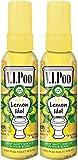 Air Wick V.I.Poo Pre-Poo Toilet Spray VALUE PACK, Lemon Idol, 1.85 oz, Pack of 2