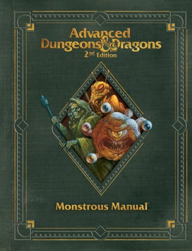 Monster Online Manual - Premium 2nd Edition Advanced Dungeons & Dragons Monstrous Manual (D&D Core Rulebook)