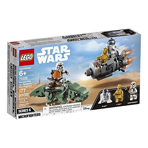 LEGO Star Wars: A New Hope Escape Pod vs. Dewback Microfighters 75228 Building Kit , New 2019 (177 Pieces) للبيع
