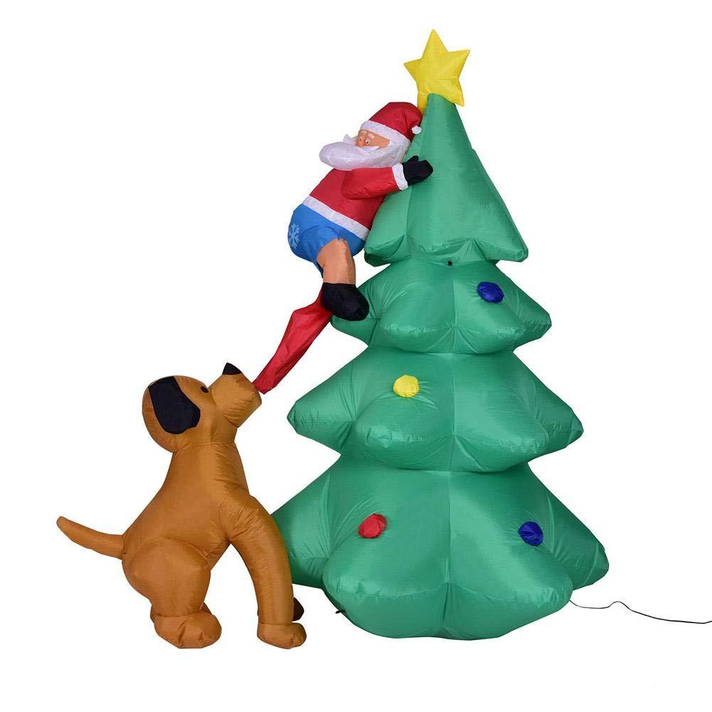 1,8 Meter Aufblasbarer Weihnachtsbaum Leucht Leucht Leucht Christbaum Weihnachten Dekoration Leuchtender Weihnachtsbaum Mit Eingebauter Lüfter Und Eingebaute Super Helle LED-Leuchten, Robust Und Verschleißfest 295862