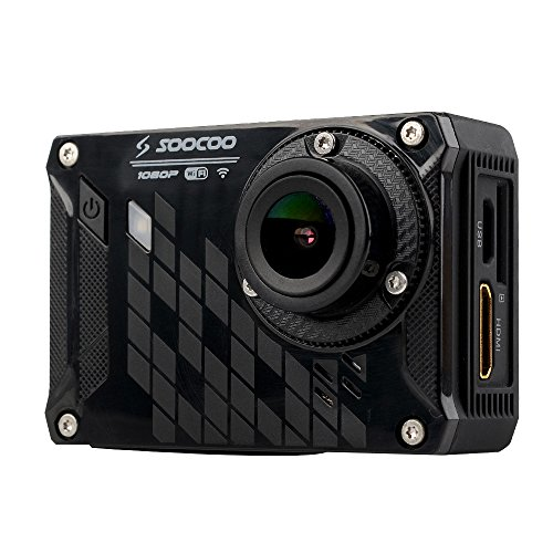 SOOCOO S33WS Pro WiFi Sport Action Camera 1080P 16MP 150 Degree Wide Angle 30M Waterproof DVR FPV with 8G SD Card Battery & USB Cable Helmet Base Bicycle Stand Accessories Action Cameras