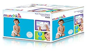Munchkin Super Premium Diapers, Size 5/X-Large Ultra (27+ Pounds), 70 Count