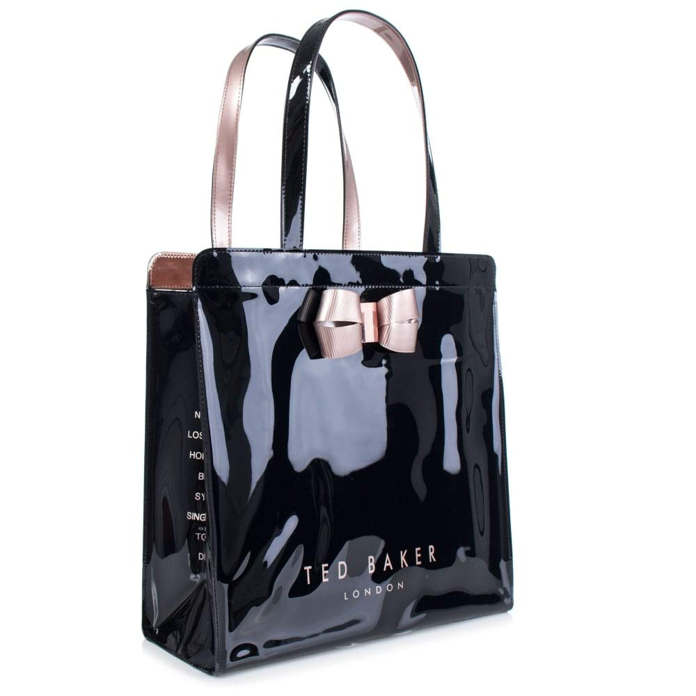 35c2a463b66b Ted Baker  Vallcon  Bow Detail Icon Shopper Bag Size Large (Black)   Amazon.co.uk  Shoes   Bags