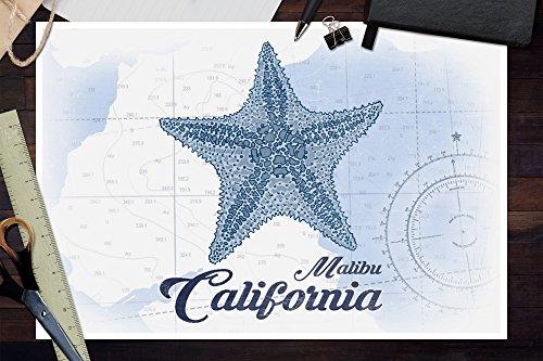 Carta X Marina nbsp;– 24 Malibu Icon nbsp;coastal nbsp;blu nbsp;– California Giclee nbsp;– 16 Multi Print nbsp;stella wqxgx7a4z