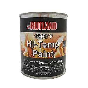Rutland  Degree F Brush On Flat Stove Paint