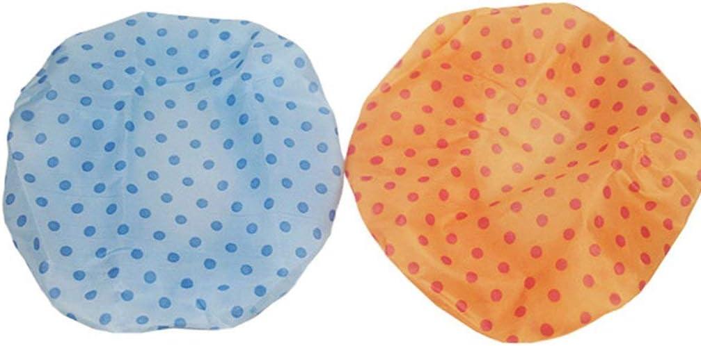 HehiFRlark Bonnet de Douche imperm/éable et Respirant Cute Dot
