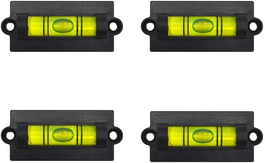 Green Mini Spirit Level Bubble Square Frame Screw On x 25mm L Acrylic 59mm W 4 Pack