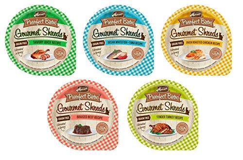 Merrick Purrfect Bistro Gourmet Shreds Variety Pack, 5 Flavo