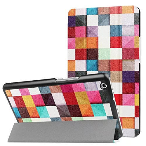 YSMILE Huawei Mediapad M3 Lite 8.0 Case - Slim Light Weight Smart Shell Stand Case Cover for Huawei Mediapad M3 Lite 8.0 inch 2017 Tablet (Magic cube)