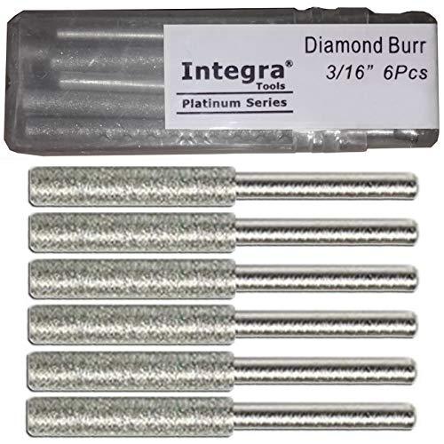 Integra Tools - Afilador de Motosierra de Diamante (3/16', Mango DE 1/8', 6 Unidades)