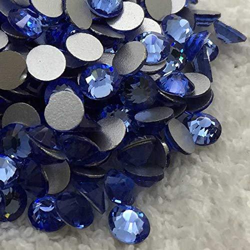 - Calvas Light Blue Color SS3~SS34 Flat Back Rhinestones Non Hotfix Silver Foiled Back Stone Beads - (Item Diameter: SS16 1440PCS)