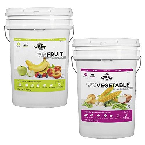 Augason Farms Freeze Dried Fruit & Veggie Variety Combo Pail Kit by Augason Farms