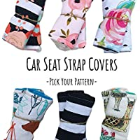 Infant Strap Covers for Car Seat,Car Seat Strap Pads,Car Seat Strap Covers,Seat Belt Covers for Baby,Strap Covers for Carseat,Stroller Strap Covers,Assorted Patterns