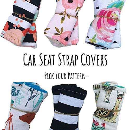 Infant Strap Covers for Car Seat,Car Seat Strap Pads,Car Seat Strap Covers,Seat Belt Covers for Baby,Strap Covers for Carseat,Stroller Strap Covers,Assorted ()