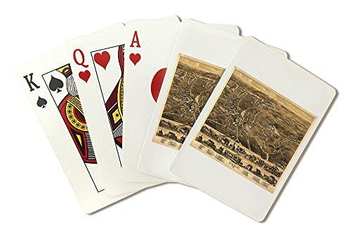 Uxbridge, Massachusetts - (1880) - Panoramic Map (Playing Card Deck - 52 Card Poker Size with Jokers)