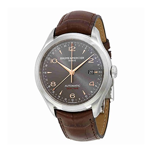 Baume Mercier Mens Watches - Baume & Mercier Men's BMMOA10111 Clifton Analog Display Swiss Automatic Brown Watch