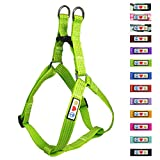 Pawtitas Reflective Step In Dog Harness or Reflective Vest Harness, Comfort Control, Training Walking of your Puppy/Dog Small Dog Harness S Green Dog Harness