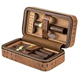 XIFEI portable crocodile grain cigar humidors Cedar wood travel cigar humidor for 6 cigar