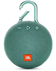 مكبر صوت بلوتوث كليب 2  مقاوم للماء من جي بي ال , فيروزي - JBLCLIP3TEAL