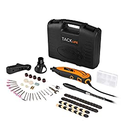 Tacklife Rtd35acl Advanced Multi-functional Rotary Tool Kit With 80 Accessories & 4 Attachments Variable Speed For Around-the-house & Crafting Projects