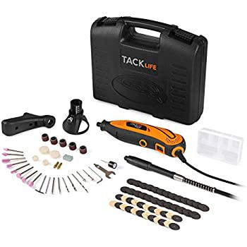 Tacklife RTD35ACL Advanced Multi-functional Rotary Tool Kit with 80 Accessories and 3 Attachments Variable Speed for Around-the-House and Crafting Projects
