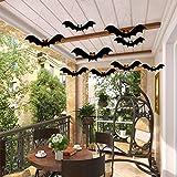 Halloween Hanging Bats Fake Fabric Bats Realistic Fake Spooky Hanging Bats Flying Bats Décor for Halloween Party Decoration,