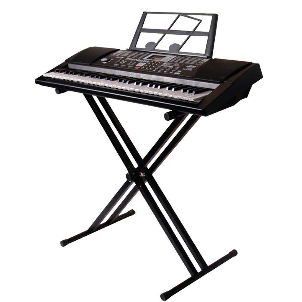Keyboard Stand Piano Keyboard Stand Synthesizer Stand 61 Key 88-Key Universal Electric Piano Stand Band Portable Keyboard Stand (Color : Black, Size : High 98cm) by Synthesizers & Workstations